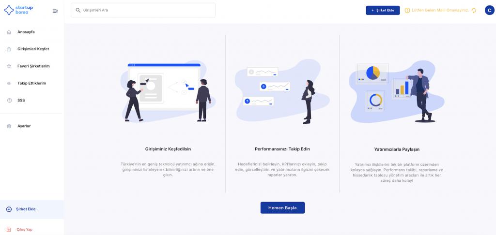 Startup Borsa Dashboard